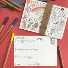 Load image into Gallery viewer, Post Pals - 4 pack Colouring postcard Bundle (32 postcards)