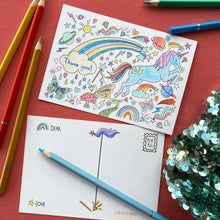 Load image into Gallery viewer, Post Pals Postcards - 8 MAGICAL postcards for kids to colour