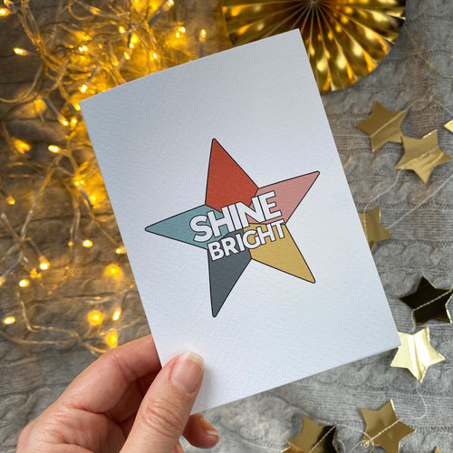 SHINE BRIGHT Christmas card