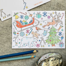Load image into Gallery viewer, Christmas colouring postcards - 8pk