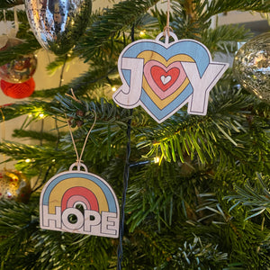 Perfectly Imperfect HOPE decoration