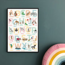 Load image into Gallery viewer, The Original A to Z animal Alphabet of Emotions print - Portrait