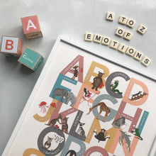 Load image into Gallery viewer, Personalised A to Z of Emotions block print