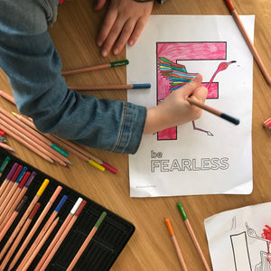 'be Fearless' colouring in download