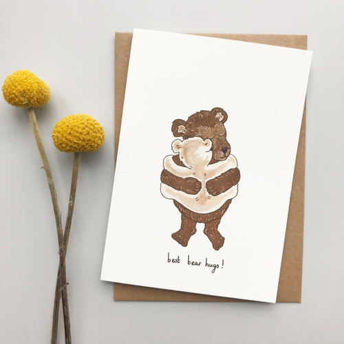 Best bear hugs! card