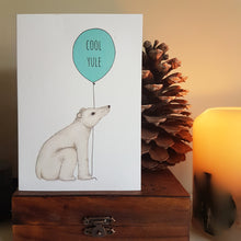 Load image into Gallery viewer, Polar Bear Cool Yule Christmas card