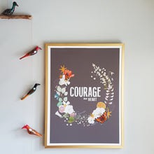 Load image into Gallery viewer, Courage, dear Heart print