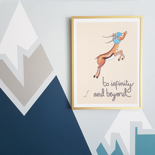 To Infinity & Beyond! Gazelle print