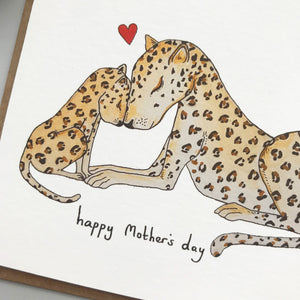 Leopard Love Mother's Day card