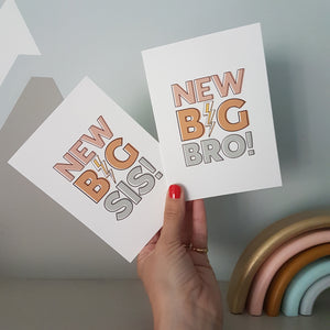 New Big Bro! & New Big Sis! cards