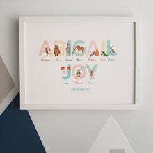 Load image into Gallery viewer, Personalised Alphabet of Emotions name print