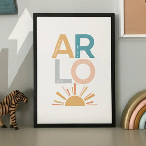 Positive and inspiring personalised name print