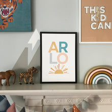 Load image into Gallery viewer, Positive and inspiring personalised name print