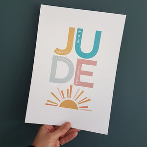Personalised Positivity name prints