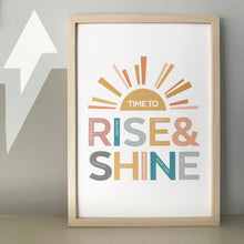 Load image into Gallery viewer, Rise & Shine print