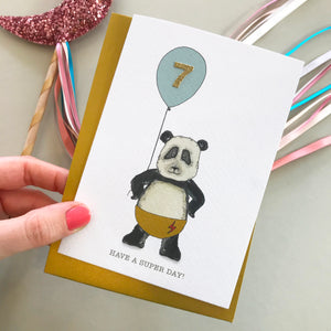 Have A Super Day! Panda birthday card