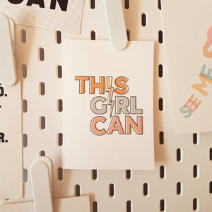 This Girl Can! card