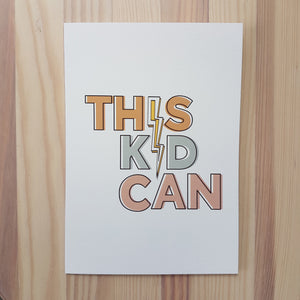 This Kid Can! and Yes You Can! cards