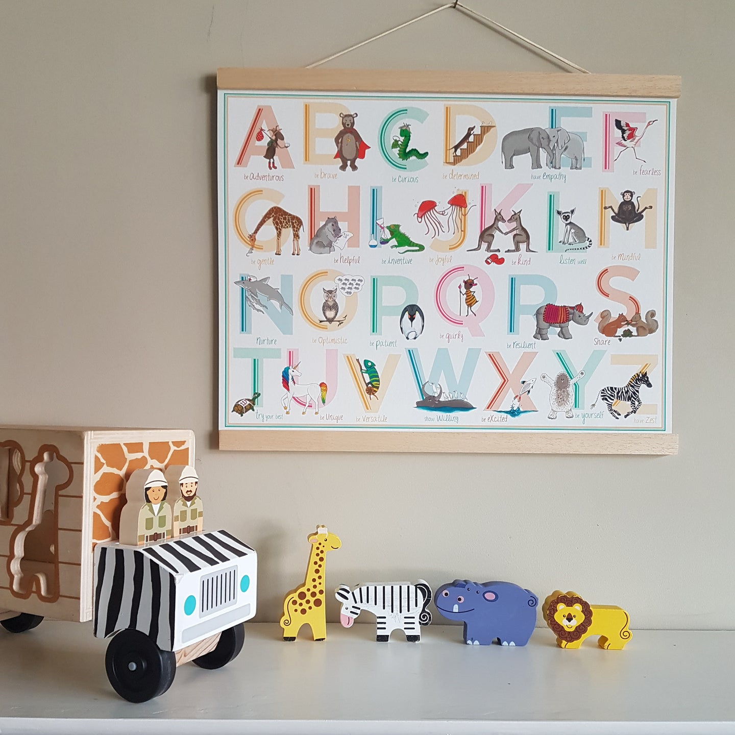 Special Edition - A to Z animal Alphabet of Emotions print