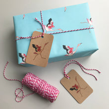 Load image into Gallery viewer, Flamingo gift wrap and tags