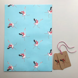 Flamingo gift wrap and tags