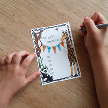 Load image into Gallery viewer, Jungle party invites & thank you notecards