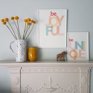 Be Unique - typographic print