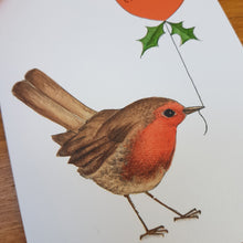 Load image into Gallery viewer, Robin Merry Christmas card