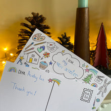 Load image into Gallery viewer, Feeling Thankful colouring postcards - 8pk