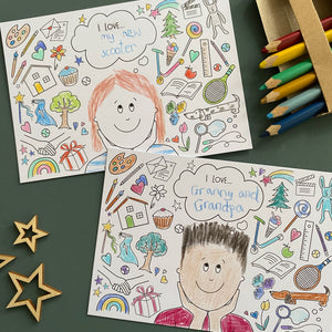 Feeling Thankful colouring postcards - 8pk