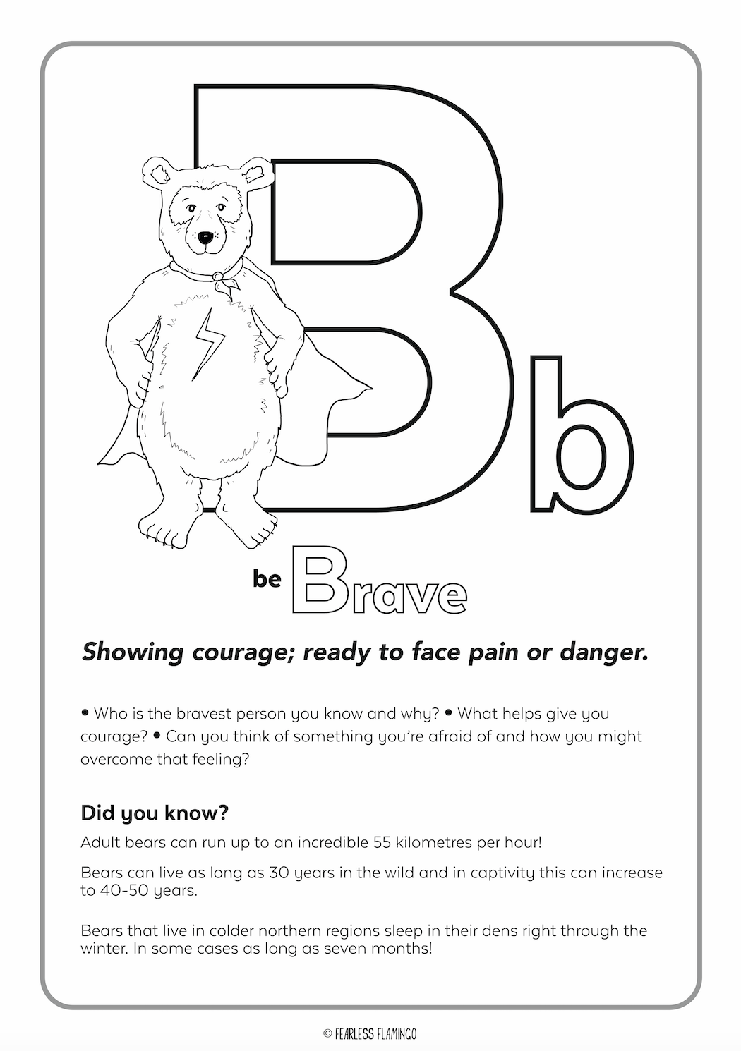 Downloadable Letter B Worksheet