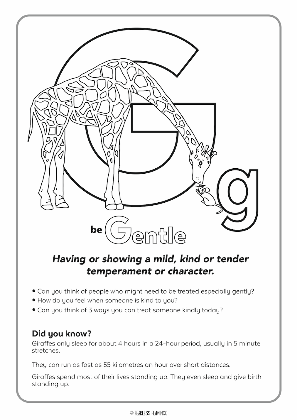 Downloadable Letter G Worksheet
