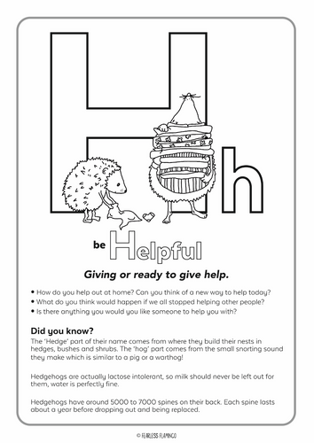 Downloadable Letter H Worksheet
