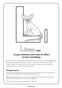 Downloadable Letter L Worksheet