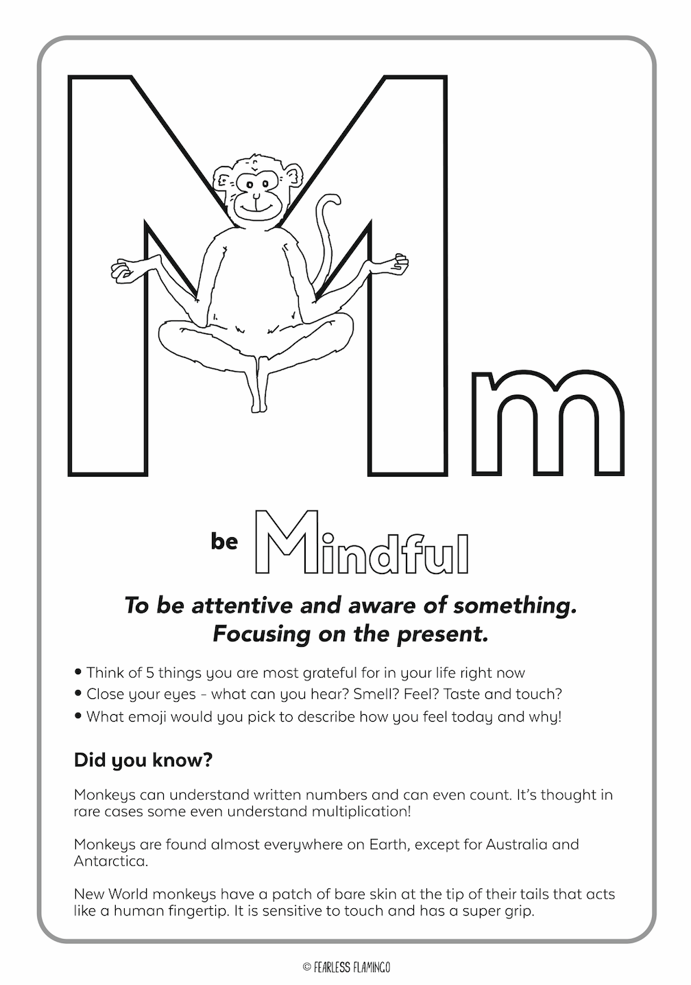Downloadable Letter M Worksheet