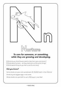 Downloadable Letter N Worksheet