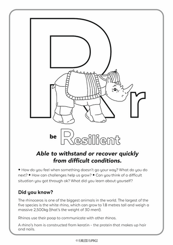 Downloadable Letter R Worksheet