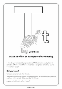 Downloadable Letter T Worksheet