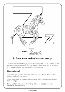 Downloadable Letter Z Worksheet