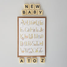 Load image into Gallery viewer, A to Z of all things baby - gender neutral new baby card