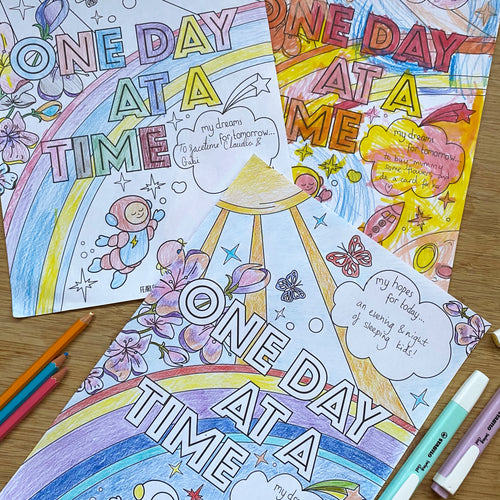 One Day At A Time - Colouring download