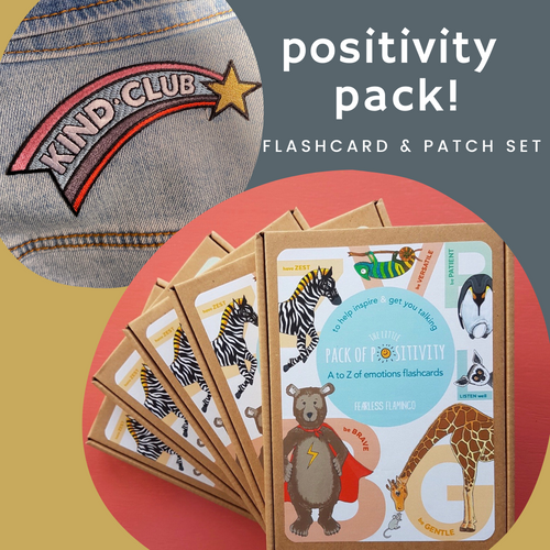 Positivity Pack! Flashcard & Patch set
