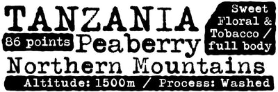 Tanzania Peaberry - Wholesale