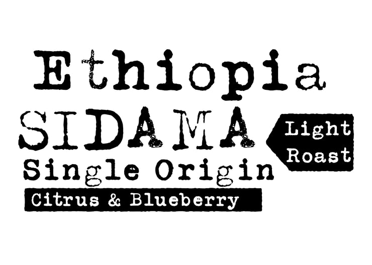 Ethiopia Sidama, Single Origin, Light Roast, Citrus & Blueberry