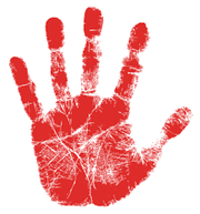 Red Hand Print Logo