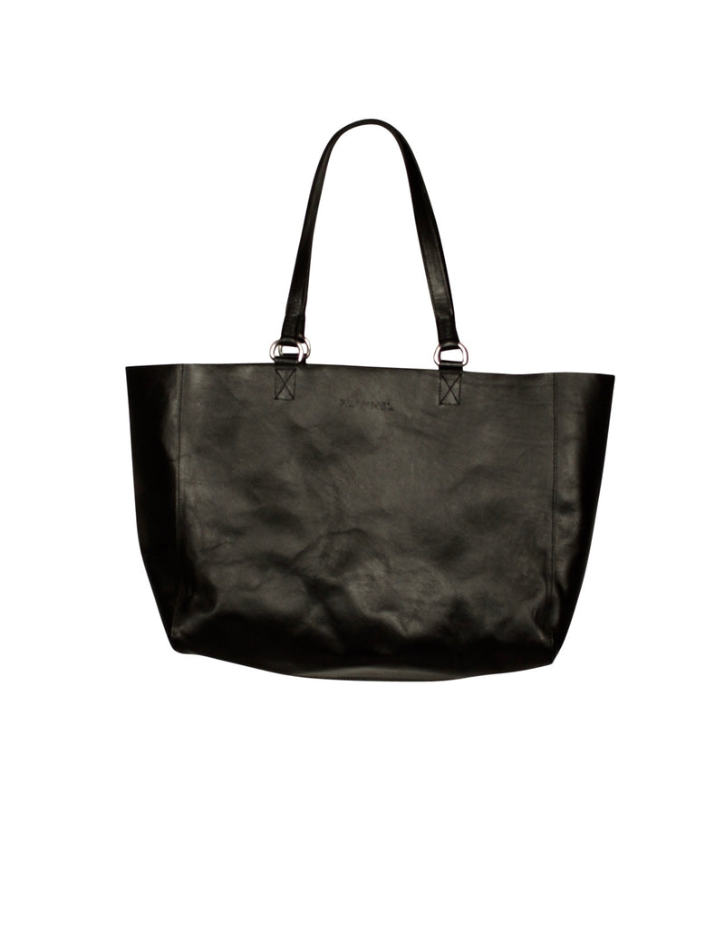 Flannel Leather Tote