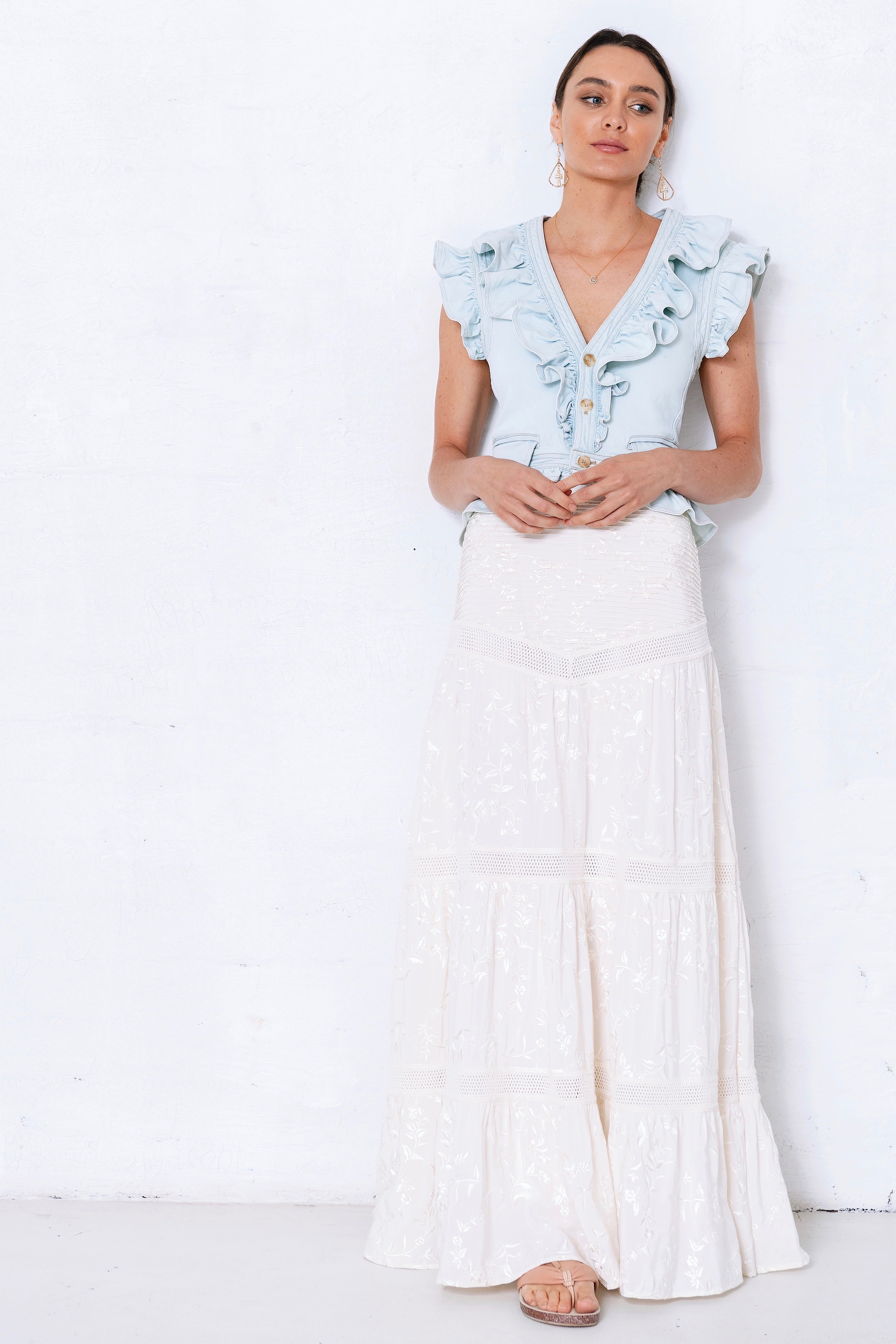 Distant Tide Maxi Skirt