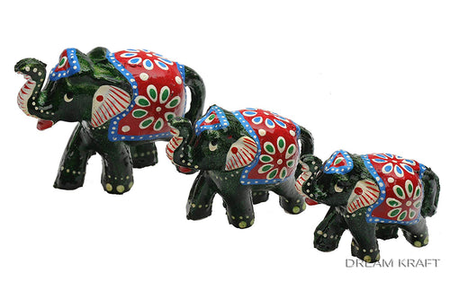 HandCrafted Set of 3 Showpiece Elephant For Decoration And Gift Purpose