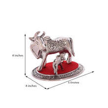 Load image into Gallery viewer, White Metal Cow and Calf