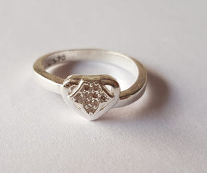 Heart Designer silver ring